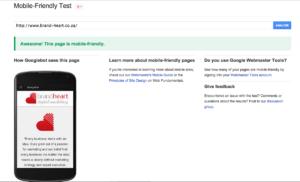 Google mobile friendly test result